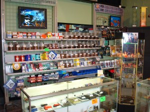 Our complete selection of cigarette and pipe tobaccos